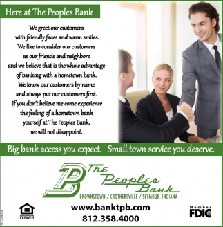 Big Bank Access You Expect. Small Town Service You Deserve.