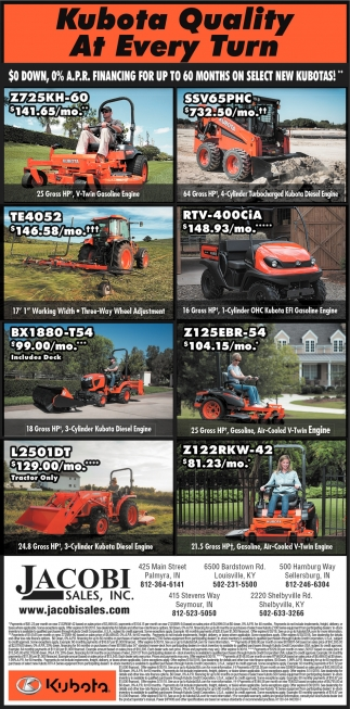 Kubota Quality At Every Turn