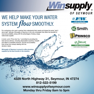 We Help Make Your Water System Flow Smoothly