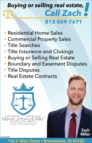 Buying Or Selling Real Estate, Call Zach!