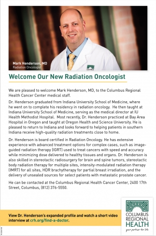 Welcome Our New Radiation Oncologist