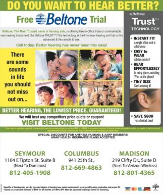 Free Beltone Trial