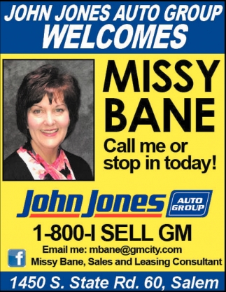 John Jones Auto Group Welcomes Missy Bane