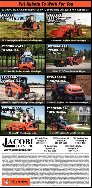 Put Kubota To Work For You