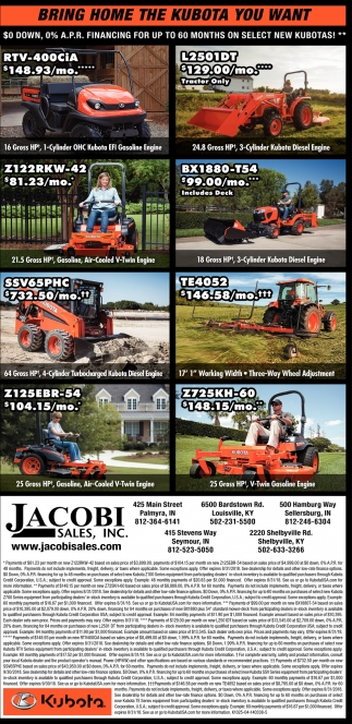 Bring Home The Kubota You Want