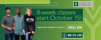 8-Week Classes Start October 15!