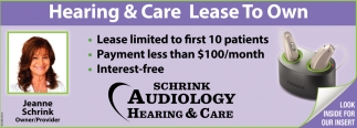Hearing & Care Lease To Own