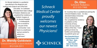 Proudly Welcomes Our New Physicians!