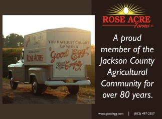 A Proud Member Of The Jackson County Agricultural Community For Over 80 Years.