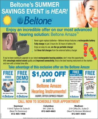 Summer Savings Event Is Hear!