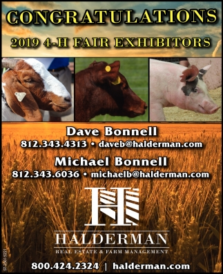Congratulations 2019 4-H Fair Exhibitors
