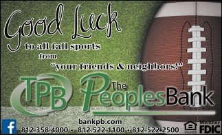 Good Luck To All Fall Sports From Your Friends & Neighbors