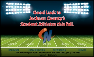 Good Luck To Jackson County's Student Athletes This Fall.