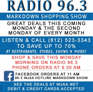 Great Deals This Coming Monday & The Second Monday Every Month