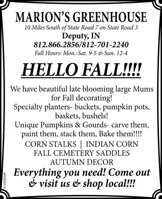Hello Fall!!