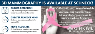 3D Mammography Is Available At Schneck!