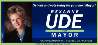 Rexanne Ude For Mayor