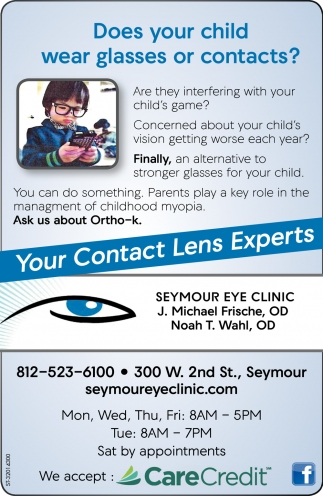 Does Your Child Wear Glasses Or Contacts?