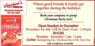 Open Sundays In December
