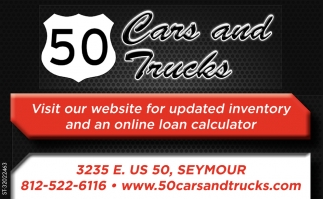 Visit Our Website For Updated Inventory And An Online Calculator
