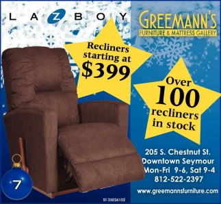 Recliners Starting At $399