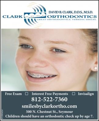 Great Orthodontics, Terrific Smiles.