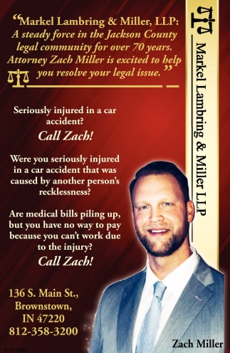 Seriously Injured In A Car Accident? Call Zach!