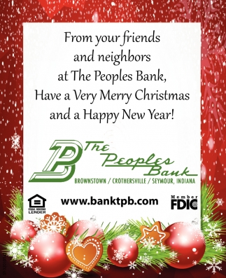 Have A Merry Christmas And A Happy New Year!, The Peoples Bank