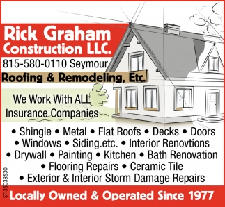Roofing Amp Remodeling Rick Graham Construction Llc